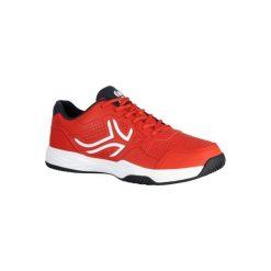 Buty tenisowe TS190 męskie. Czerwone buty sportowe męskie ARTENGO, z kauczuku. W wyprzedaży za 79.99 zł.