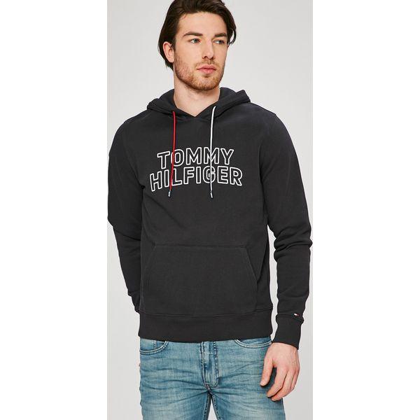 ddd2f43feba1f Tommy Hilfiger - Bluza - Czarne bluzy męskie marki Tommy Hilfiger. W ...