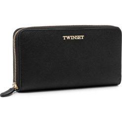 Duży Portfel Damski TWINSET - Portafoglio AA7PDY Nero 00006. Czarne portfele damskie Twinset, ze skóry. W wyprzedaży za 349.00 zł.
