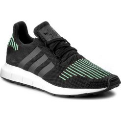 Buty adidas - Swift Run CG4110 Cblack/Utiblk/Ftwwht. Czarne obuwie sportowe damskie Adidas, z materiału. W wyprzedaży za 259.00 zł.