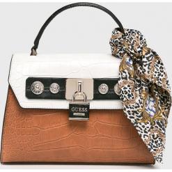Guess Jeans - Torebka. Szare torby na ramię damskie Guess Jeans. Za 649.90 zł.