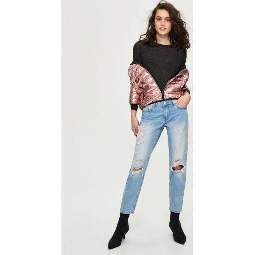 29723acbe0946c Krótki sweter - Szary - Swetry damskie marki Sinsay. W wyprzedaży za ...