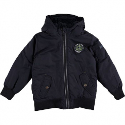 Kurtka zimowa w kolorze granatowym. Niebieskie kurtki i płaszcze dla chłopców marki ESPRIT, na zimę, prążkowane. W wyprzedaży za 192.95 zł.