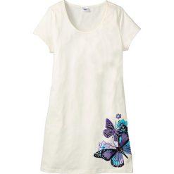 Koszula nocna bonprix biel wełny z nadrukiem. Koszule nocne damskie marki MAKE ME BIO. Za 34.99 zł.