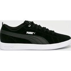 Puma - Buty Smash Wns V2 Sd. Czarne obuwie sportowe damskie Puma, z materiału. W wyprzedaży za 219.90 zł.