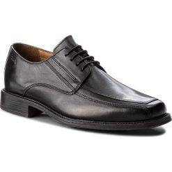Półbuty CLARKS - Driggs Walk 261103007 Black Leather. Czarne eleganckie półbuty Clarks, z materiału. W wyprzedaży za 219.00 zł.