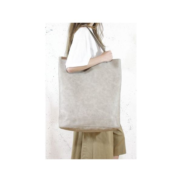 9bd25a1d Mega Shopper bag beżowa torba oversize Vegan