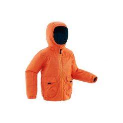 Kurtka SH100 WARM dla dzieci. Czerwone kurtki i płaszcze dla chłopców QUECHUA. Za 79.99 zł.