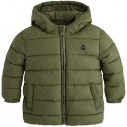 Kurtka w kolorze khaki. Brązowe kurtki i płaszcze dla chłopców marki Mayoral, z puchu. W wyprzedaży za 122.95 zł.