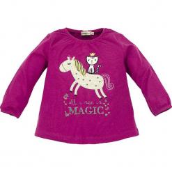 """Koszulka """"Magic"""" w kolorze fioletowym. Fioletowe bluzki dla dziewczynek Bondi, z aplikacjami, z okrągłym kołnierzem, z długim rękawem. W wyprzedaży za 49.95 zł."""