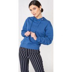 NA-KD Basic Bluza z kapturem basic - Blue. Niebieskie bluzy damskie NA-KD Basic, z bawełny. Za 100.95 zł.