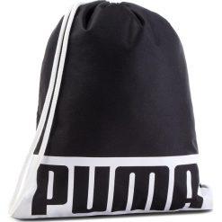 Plecak PUMA - Deck Gym Sack 074961 01 Puma Black. Czarne plecaki damskie Puma, z materiału, sportowe. Za 59.00 zł.