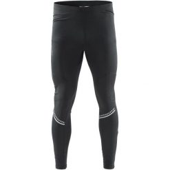 Craft Męskie Spodnie Cover Thermal Black  S. Czarne spodnie sportowe męskie Craft, z elastanu. W wyprzedaży za 229.00 zł.