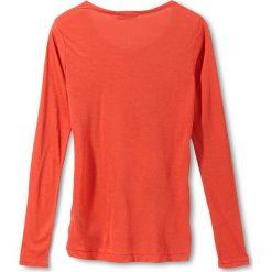 Koszulka w kolorze pomarańczowym. Brązowe t-shirty damskie Liebeskind Fashion, z kaszmiru, z okrągłym kołnierzem, z długim rękawem. W wyprzedaży za 108.95 zł.
