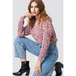 Trendyol Kolorowy sweter z dekoltem v - Multicolor. Szare swetry damskie Trendyol, ze splotem, dekolt w kształcie v. Za 121.95 zł.