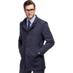 Płaszcz FLORIANO PSNS000065. Niebieskie płaszcze męskie Giacomo Conti, z bawełny, wizytowe. Za 499.00 zł.
