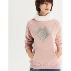 Bluza z pluszowym golfem - Różowy. Bluzy damskie marki KALENJI. W wyprzedaży za 39.99 zł.