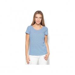 Bluzka K411 Wzór 38. Bluzki damskie Katrus, w geometryczne wzory, z tkaniny, z krótkim rękawem. Za 119.00 zł.