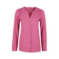 S.Oliver Bluzka Damska 42 Ciemnoczerwona. Różowe bluzki damskie S.Oliver, eleganckie, z klasycznym kołnierzykiem. W wyprzedaży za 116.00 zł.