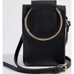 Torebka z okrągłym uchwytem - Czarny. Czarne torebki do ręki damskie Mohito. Za 69.99 zł.