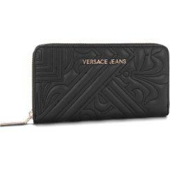 Duży Portfel Damski VERSACE JEANS - E3VSBPZ1  70792 899. Czarne portfele damskie Versace Jeans, z jeansu. Za 369.00 zł.