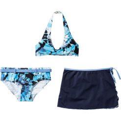 Bikini+spódniczka dziewczęce (3 cz.) bonprix niebiesko-biały batikowy. Bielizna dla dziewczynek marki bonprix. Za 59.99 zł.