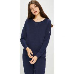 Lauren Ralph Lauren - Bluza piżamowa. Czarne piżamy damskie Lauren Ralph Lauren, z bawełny. W wyprzedaży za 239.90 zł.