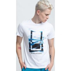 T-shirt męski TSM295 - biały. Białe t-shirty męskie 4f, z bawełny. Za 59.99 zł.