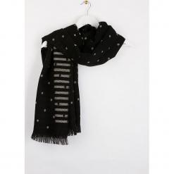"""Szal """"Bripois"""" w kolorze czarnym - 180 x 60 cm. Czarne szaliki i chusty damskie Scottage, z wełny. W wyprzedaży za 58.95 zł."""