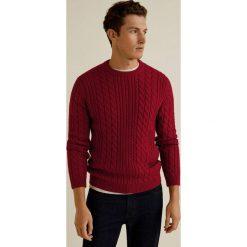 Mango Man - Sweter Morning. Brązowe swetry przez głowę męskie Mango Man, z dzianiny, z okrągłym kołnierzem. Za 199.90 zł.