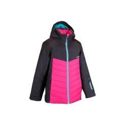 Kurtka narciarska dla dzieci SLIDE 100. Niebieskie kurtki i płaszcze dla dziewczynek WED'ZE. W wyprzedaży za 99.99 zł.