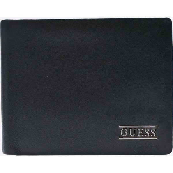 bc26f9def3281 Guess Jeans - Portfel skórzany - Portfele męskie marki Guess Jeans, z  jeansu. W wyprzedaży za 199.90 zł. - Portfele męskie - Akcesoria męskie -  Dla mężczyzn ...
