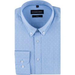 Koszula SIMONE KDNS000508. Niebieskie koszule męskie Giacomo Conti, w kropki, z bawełny, button down, z długim rękawem. Za 149.00 zł.