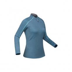 Koszulka narciarska MD 500 damska. Niebieskie t-shirty damskie WED'ZE, z elastanu. Za 79.99 zł.
