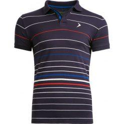 Koszulka polo męska TSM605 - multikolor - Outhorn. Czarne koszulki polo męskie Outhorn, na lato, z bawełny. W wyprzedaży za 39.99 zł.