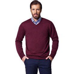 Sweter Robin Bordowy. Czerwone kardigany męskie LANCERTO, z bawełny. W wyprzedaży za 149.90 zł.