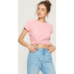 T-shirt basic - Pomarańczo. Różowe t-shirty damskie Sinsay. Za 9.99 zł.