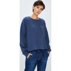 Pepe Jeans - Bluza. Niebieskie bluzy damskie Pepe Jeans, z bawełny. W wyprzedaży za 199.90 zł.