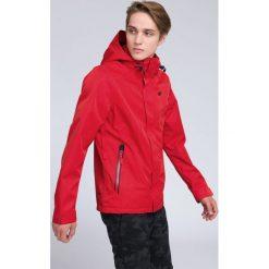 Kurtka miejska męska KUM202 - czerwony. Czerwone kurtki męskie 4f, z materiału. W wyprzedaży za 249.99 zł.