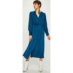 Vero Moda - Sukienka. Szare sukienki damskie Vero Moda, z poliesteru, casualowe, z długim rękawem. W wyprzedaży za 149.90 zł.