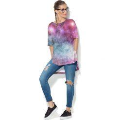 Colour Pleasure Koszulka CP-033 51 błękitno-malinowa r. uniwersalny. Bluzki damskie Colour Pleasure. Za 76.57 zł.