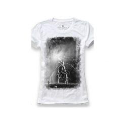 Koszulka UNDERWORLD Ring spun cotton Burza. Białe t-shirty damskie Underworld, z nadrukiem, z bawełny. Za 59.99 zł.