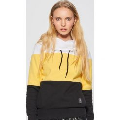 Wzorzysta bluza z kołnierzem - Żółty. Żółte bluzy damskie Cropp. Za 89.99 zł.