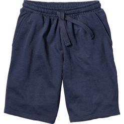 Szorty dresowe bonprix granatowy. Niebieskie szorty męskie bonprix, w paski, z dresówki. Za 44.99 zł.