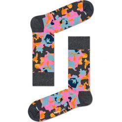 Happy Socks - Skarpetki Flower. Szare skarpety damskie Happy Socks, z bawełny. W wyprzedaży za 29.90 zł.
