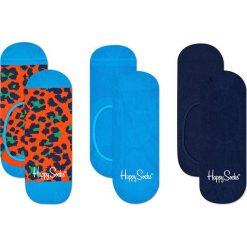 Happy Socks - Stopki Leopard (3-pak). Niebieskie skarpety damskie Happy Socks, z bawełny. Za 69.90 zł.