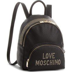 Plecak LOVE MOSCHINO - JC4065PP16LS000A Galv.Oro. Czarne plecaki damskie Love Moschino, ze skóry ekologicznej, klasyczne. Za 879.00 zł.