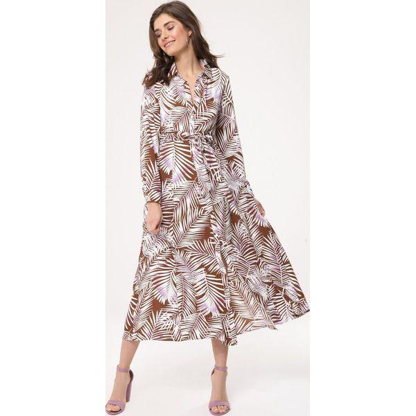37f3149d9d Brązowa Sukienka Tribromide - Brązowe sukienki damskie marki Born2be ...