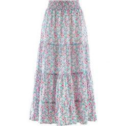 Długa spódnica, kolekcja Maite Kelly bonprix perłowy jasnoróżowy w kwiaty. Czerwone spódnice damskie bonprix, w kwiaty. Za 109.99 zł.