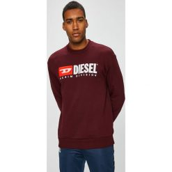 Diesel - Bluza. Brązowe bluzy męskie Diesel, z aplikacjami, z bawełny. W wyprzedaży za 499.90 zł.